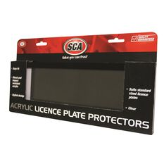 SCA Number Plate Protector - 6 Figure, Clear, Standard, , scaau_hi-res