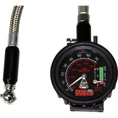 Ridge Ryder Dial Tyre Gauge w / Flexible Hose - 10-70 PSI, , scaau_hi-res