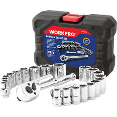WORKPRO Socket Set - 24 Piece, , scaau_hi-res
