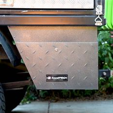ToolPRO Undertray Tool Box - Galvanised Steel, Right hand side, , scaau_hi-res