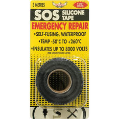 SOS Silicone Tape - Black, 25mm x 3m, , scaau_hi-res