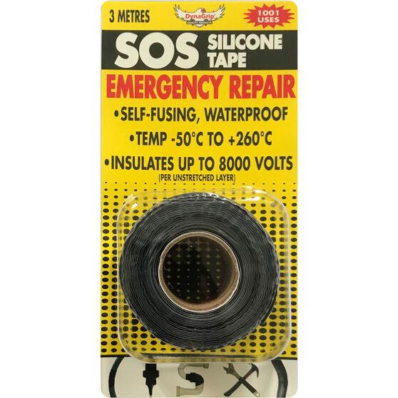 DynaGrip SOS Silicone Tape - Black, 3m x 25mm, , scaau_hi-res
