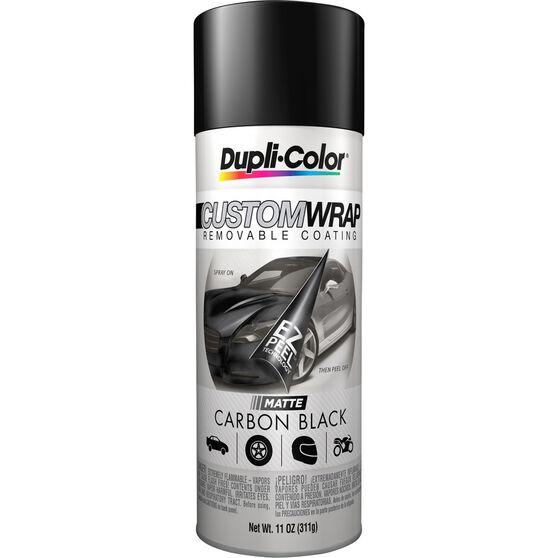 Dupli-Color Aerosol Paint Custom Wrap - Matte Carbon Black, 311g