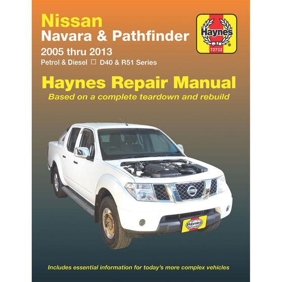 Haynes Car Manual For Nissan Patrol 1998-2011 - 72761, , scaau_hi-res