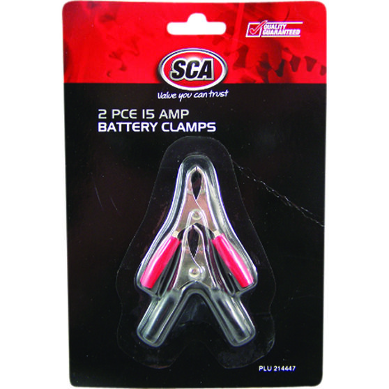 SCA Battery Clamps - 2 Pack, 15 AMP, , scaau_hi-res