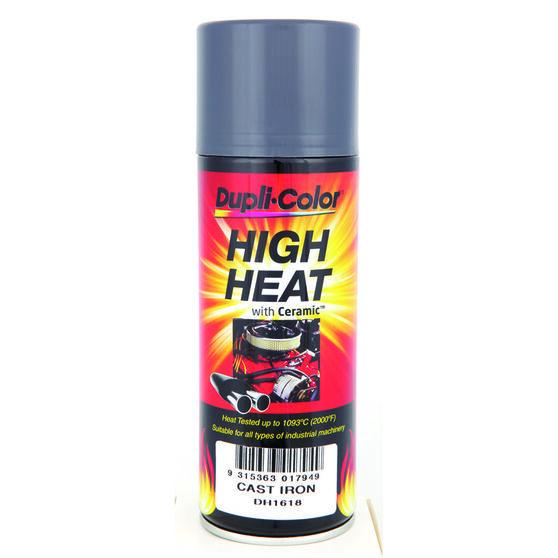 Dupli-Color Aerosol Paint - High Heat, Cast Iron, 340g, , scaau_hi-res