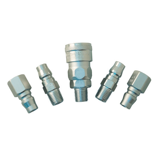 Nitto Air Fitting Set, Plug and Coupler - 1 / 4inch, 5 Piece, , scaau_hi-res