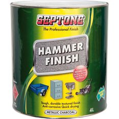 Septone Paint Hammer Finish - Metallic Charcoal, 4 Litre, , scaau_hi-res