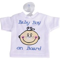 Little Car Baby on Board T-Shirt - Blue, , scaau_hi-res