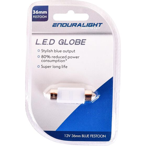 Interior Globe 10 SMD LED - Blue, T10, , scaau_hi-res