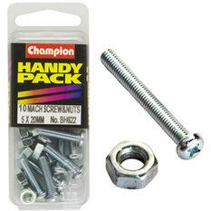 Champion Machined Screws / Nuts - 5mm X 20mm, BH622, Handy Pack, , scaau_hi-res