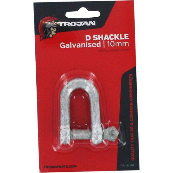 Trojan D Shackle - Galvanised, 10mm, , scaau_hi-res