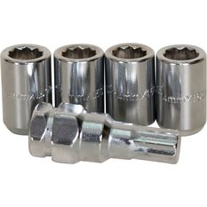 Calibre Wheel Nuts, Tapered Slim, Chrome - SLIMN14150, 14mm x 1.50mm, , scaau_hi-res