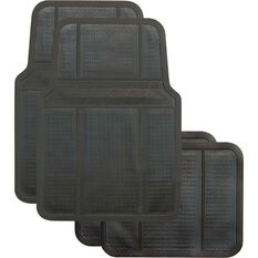 Best Buy Car Floor Mat - Rubber, Black, Set of 4, , scaau_hi-res