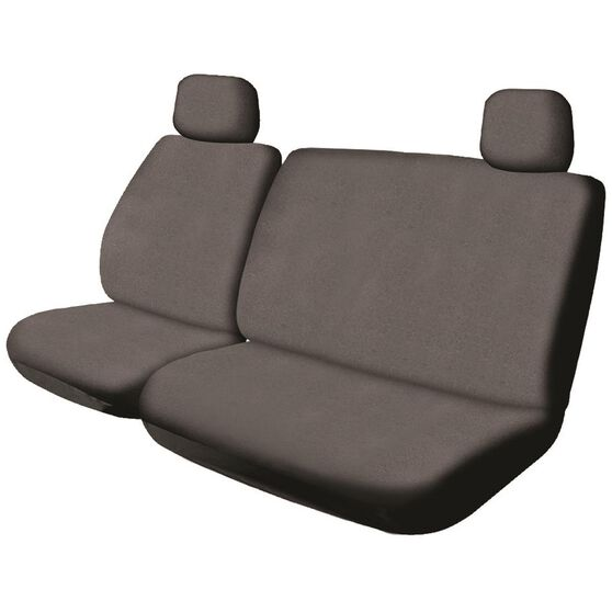 SCA Canvas Ute Seat Cover - Charcoal, Size 301, Front Bucket and Bench (w/out cut out), , scaau_hi-res