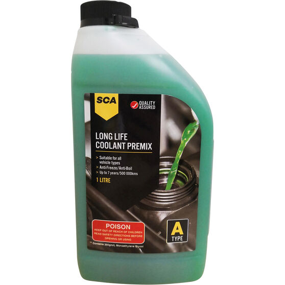 SCA Anti-Freeze/Anti-Boil Premix Coolant Green - 1 Litre, , scaau_hi-res