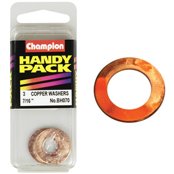 Champion Copper Washers - 7 / 16inch, BH070, Handy Pack, , scaau_hi-res