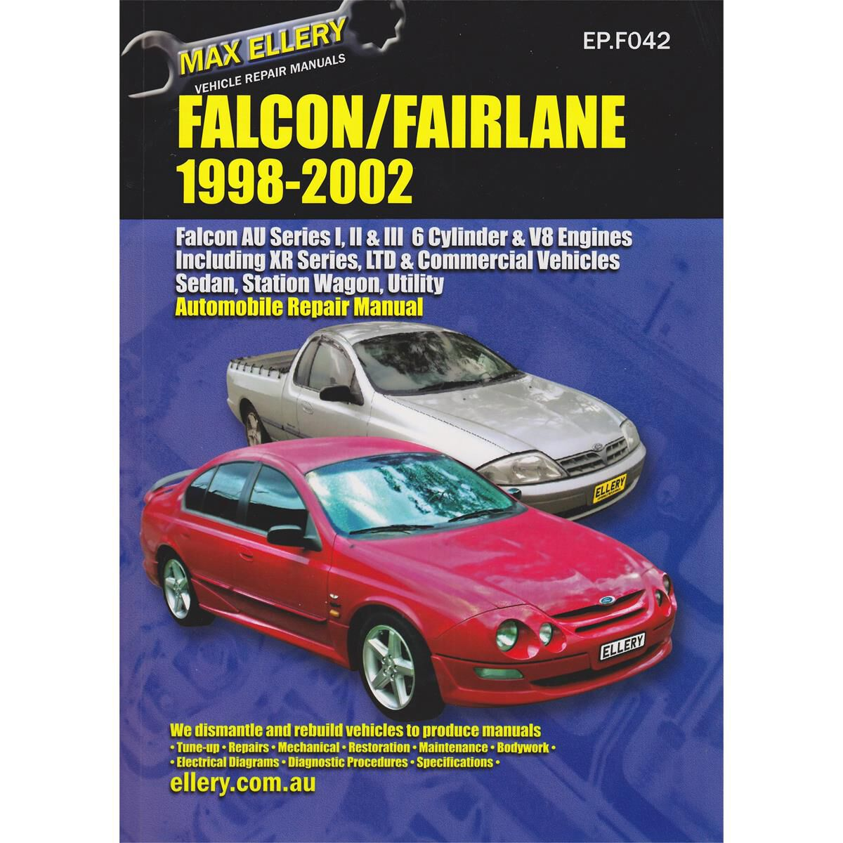 FACTORY WORKSHOP SERVICE REPAIR MANUAL FORD FALCON 1998-2002 WIRING