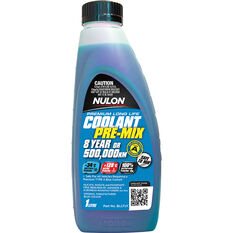 Nulon Blue Long Life Anti Freeze / Anti Boil Premix Coolant - 1 Litre, , scaau_hi-res