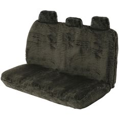 SCA Comfort Fur Seat Cover - Black, Adjustable Headrests, Size 06H, Rear Seat, , scaau_hi-res