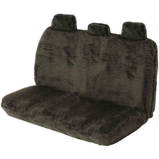 SCA Comfort Fur Seat Cover - Black, Adjustable Headrests, Size 06H, Rear Seat, , scaau_hi-res