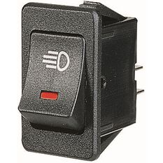 SCA Illuminated Rocker Switch On/Off Red, , scaau_hi-res