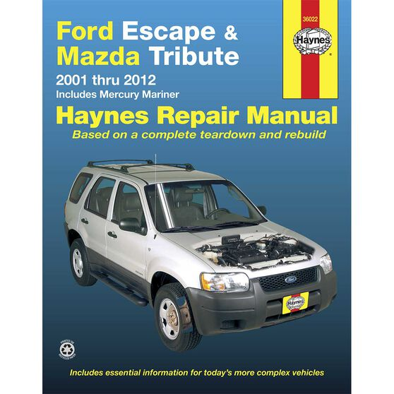 Haynes Car Manual For Ford Escape / Mazda Tribute 2001-2007 - 36022, , scaau_hi-res