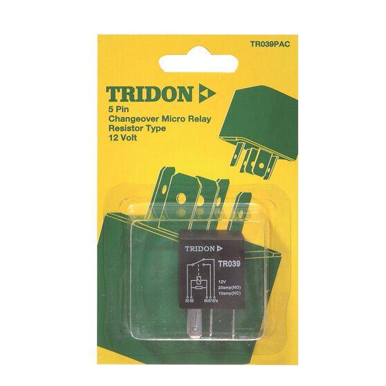 Tridon Micro Relay - 20 / 10 AMP, 5 Pin, , scaau_hi-res