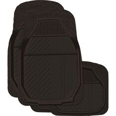 Ridge Ryder Deep Dish Car Floor Mats - Rubber, Black, Set of 4, , scaau_hi-res