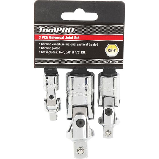 ToolPRO Universal Joint Set - 1 / 4 inch / 3 / 8 inch / 1 / 2 inch Drive, , scaau_hi-res