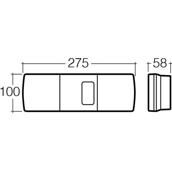 Narva Trailer Lamp - Rectangle, Combination, 12V, , scaau_hi-res