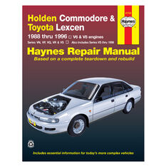 Haynes Car Manual For Holden Commodore / Toyota Lexcen 1988-1996 - 41742, , scaau_hi-res