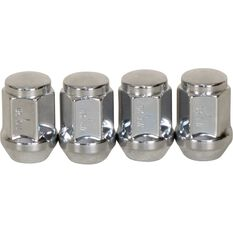 Wheel Nuts, Tapered, Chrome - 7/16, , scaau_hi-res