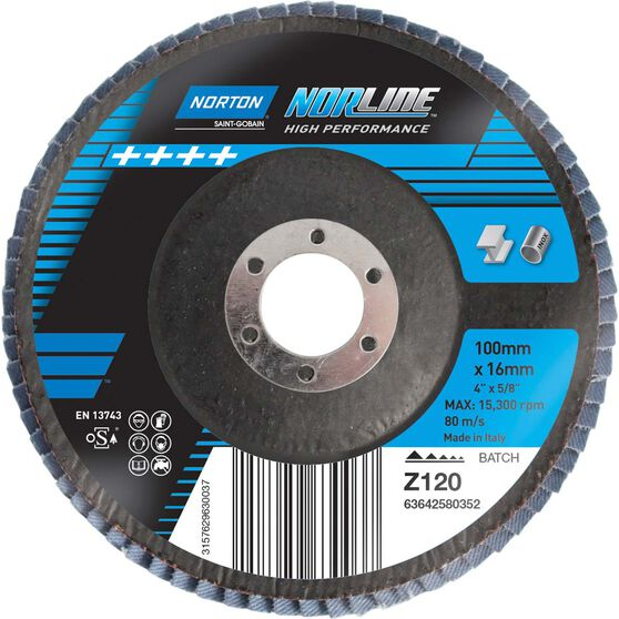 Norton Flap Disc 120 Grit 100mm, , scaau_hi-res