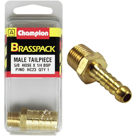 Champion Male Hose Barb - 5 / 8inch X 1 / 4inch, Brass, , scaau_hi-res