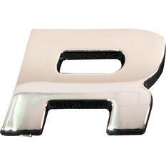 SCA 3D Chrome Badge Letter R, , scaau_hi-res
