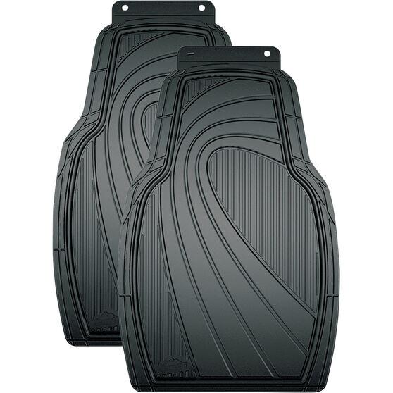 ArmorAll Car Floor Mats Rubber Black Front Pair, , scaau_hi-res