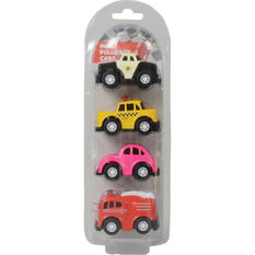 Pull back Alloy mini vehicles - 4 pack, , scaau_hi-res