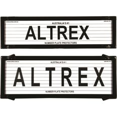 Altrex Number Plate Protector - 6 Figure, Slimline, With Lines, 6QSL, , scaau_hi-res