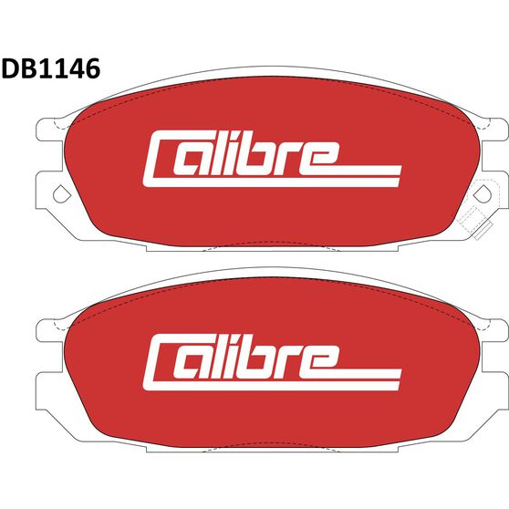 Calibre Disc Brake Pads DB1146CAL, , scaau_hi-res