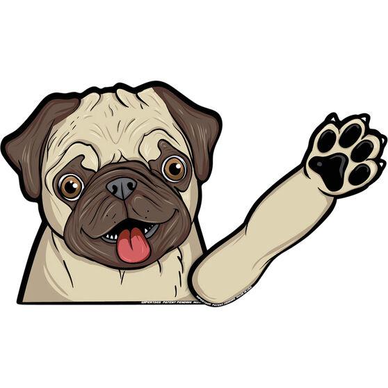 WiperTag Rear Window Blade Cover - Pug Dog, , scaau_hi-res