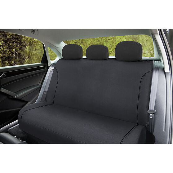 SCA Canvas Seat Covers - Charcoal/Grey, Adjustable Headrests, Size 06H, Rear Seat, , scaau_hi-res