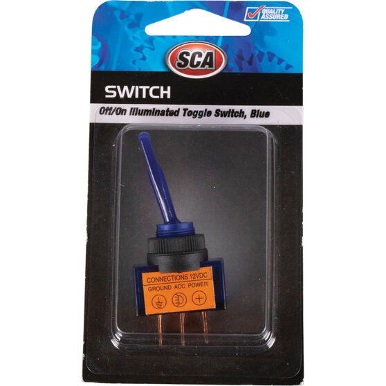 SCA Switch - Toggle, Off / On, Illuminated, Blue
