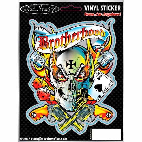 Hot Stuff Sticker - Brotherhood, Vinyl, , scaau_hi-res