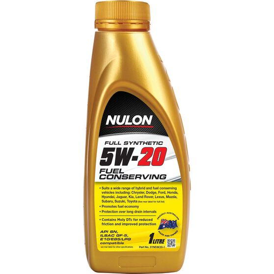Nulon Fuel Conserving Synthetic Engine Oil - 5W-20 1 Litre, , scaau_hi-res