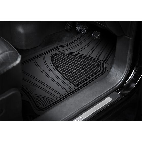 Armor All Car Floor Mats Rubber Black Set of 4, , scaau_hi-res
