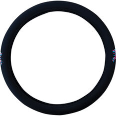 SCA Steering Wheel Cover - Butterfly Mesh, Pink/Blue 380mm diameter, , scaau_hi-res