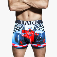 Tradie Mens Finish Line Trunks, Finish Line, scaau_hi-res