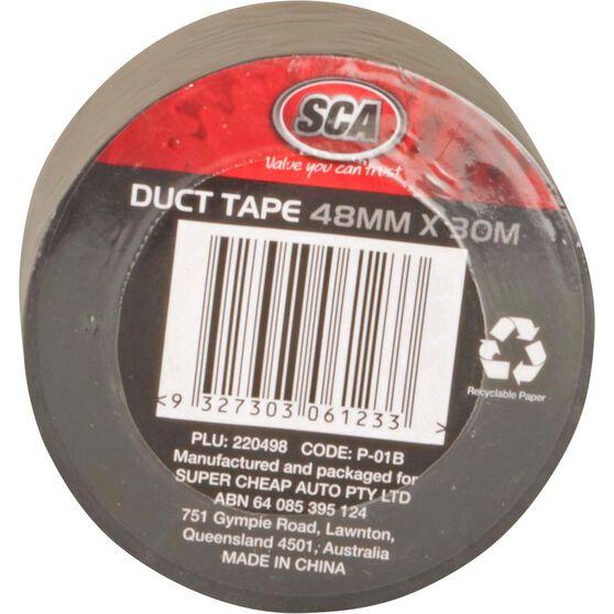 Duct Tape - Black, 48mm x 30m, , scaau_hi-res