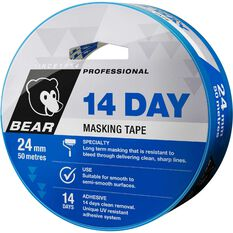 Norton 14 Day Masking Tape - Blue, 24mm x 50m, , scaau_hi-res